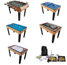 4ft BCE Riley 21games M21B-1S Pool table, Mains FAN Air hockey,Football  TableTennis
